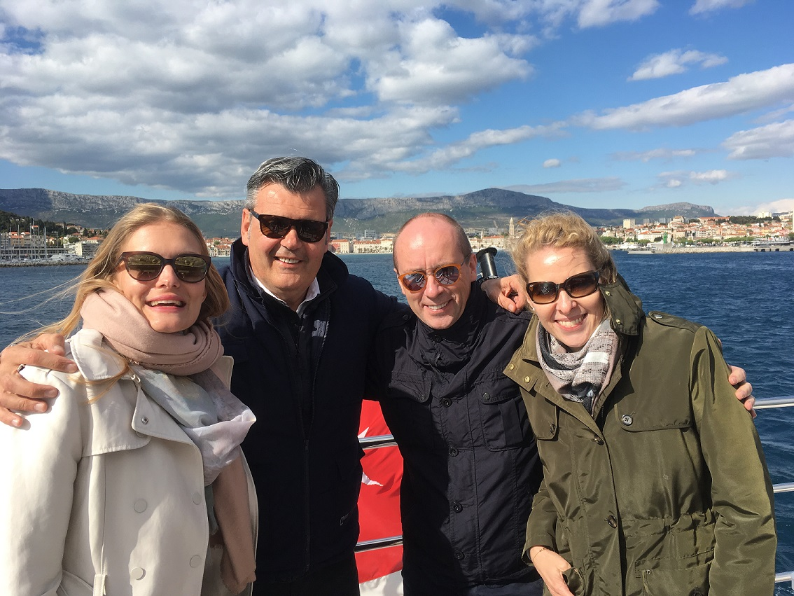 SeaNet hosts their PR Teams on a SeaNet Yacht